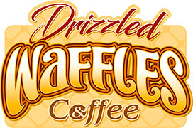 Drizzled Waffles and Coffee
